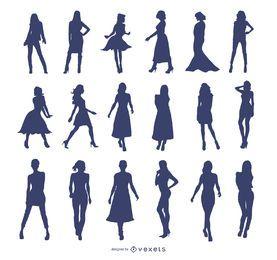 Chicas de moda de vector