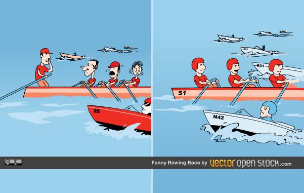Funny Rowing Race Design