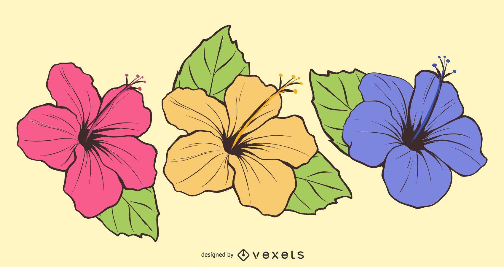 Vetor de flores grátis-3