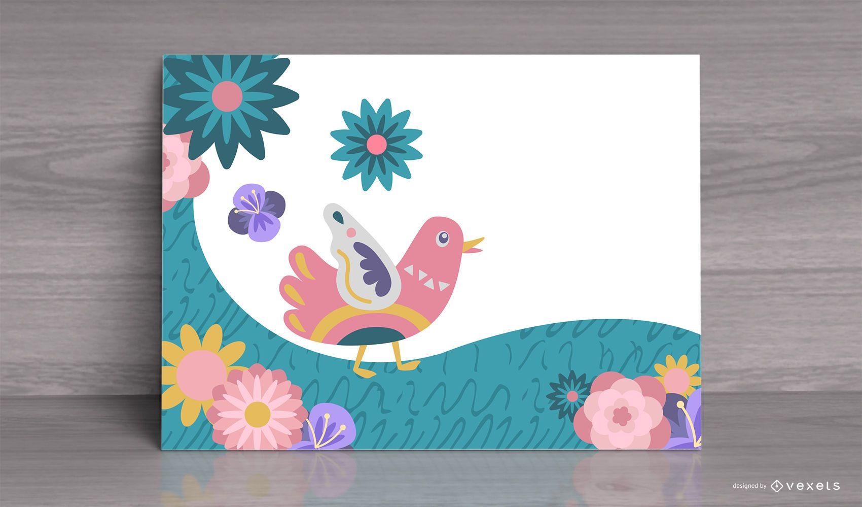 Tarjeta de pájaro