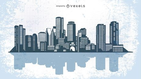 Urban City Skyline Illustration
