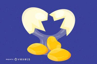Vector de huevos