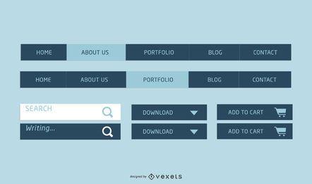 Elementos de la página web de vector libre parte 1