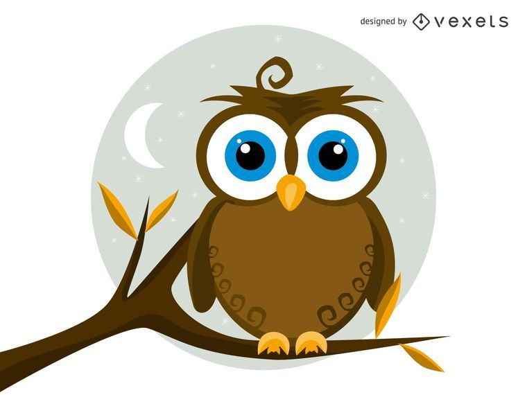 Isolated Vector Owl Illustration