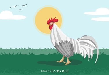 Gallo de vector