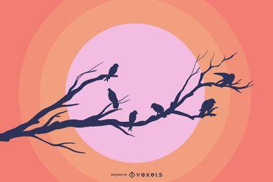 Vector libre de ramas de aves