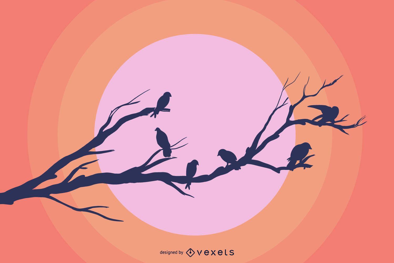 Free Vector Bird Branches