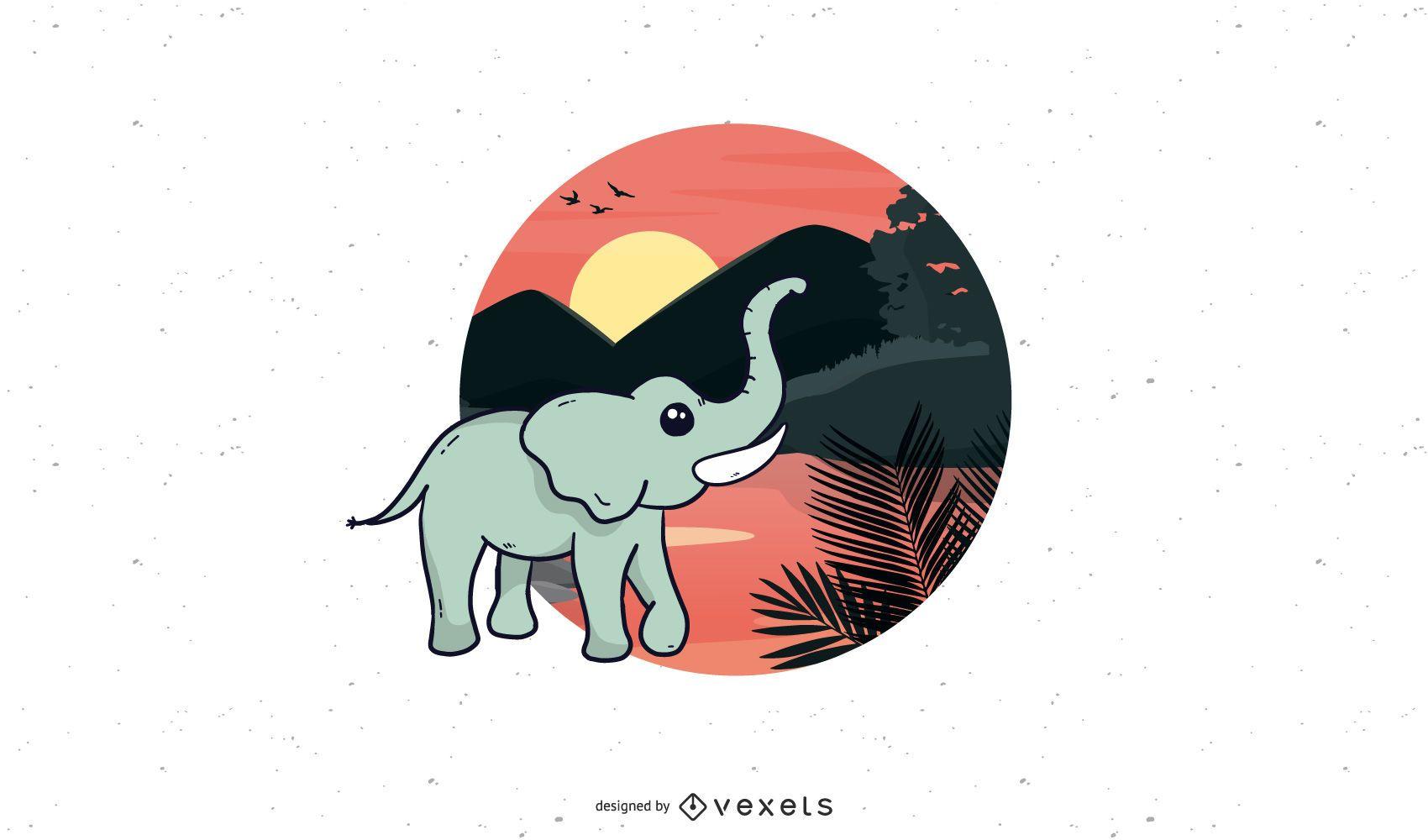 Freier Vektor Elefant