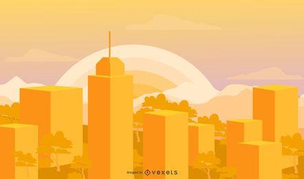 Orange Stadt