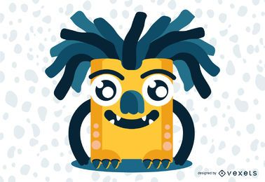 Dread Head Funny Monster Illustration