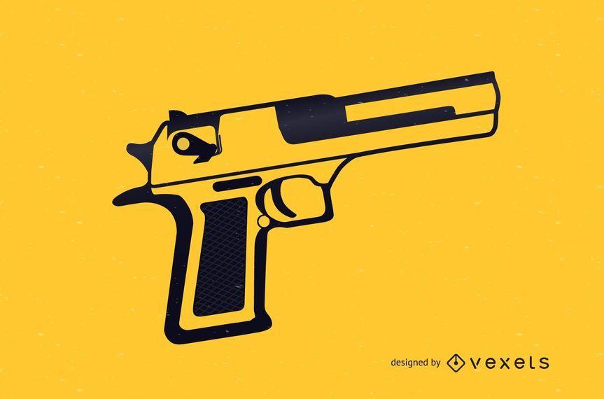Ilustración de vector gratis pistola