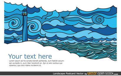Cartão da paisagem