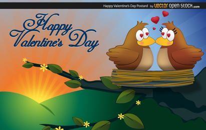 Glückliche Valentinsgruß-Postkarte