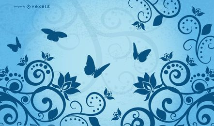 Ilustração vetorial de borboleta
