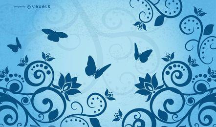 Vector mariposa Clipart