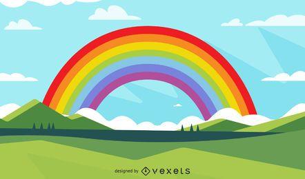 Desenho de ilustração de arco-íris