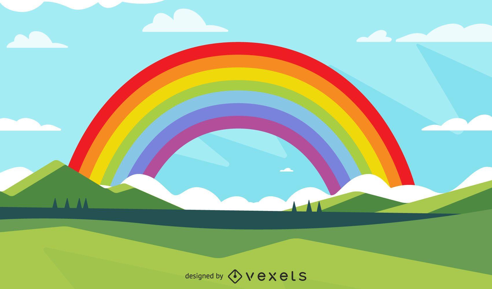 Diseño de ilustración de arco iris