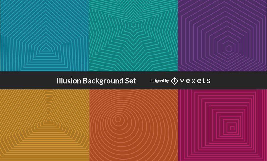 Vector ilusión de fondo