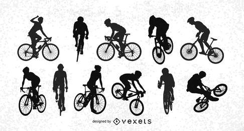 Bicicletas vectoriales encantadoras