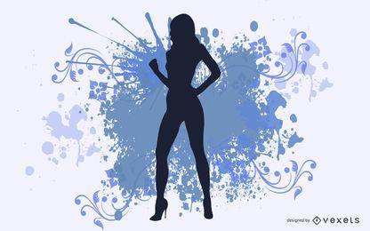 Vektor Sexy Mädchen