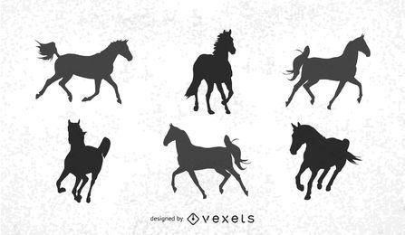Vector corriendo caballos