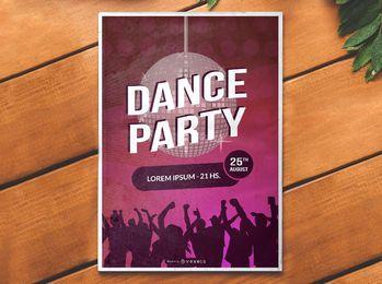 Tanzparty-Club-Plakat