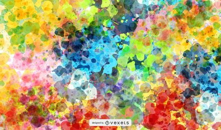 Colourful Splat Background