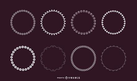10 Conjunto de pincéis de dispersão do Illustrator
