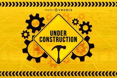Em construção de fundo