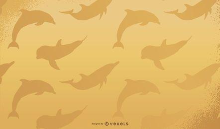 Golden Dolphin Wallpaper