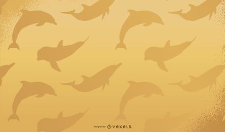 Papel de Parede de Golfinho Dourado