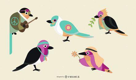 Conjunto de iconos de Twitter de Woodstock