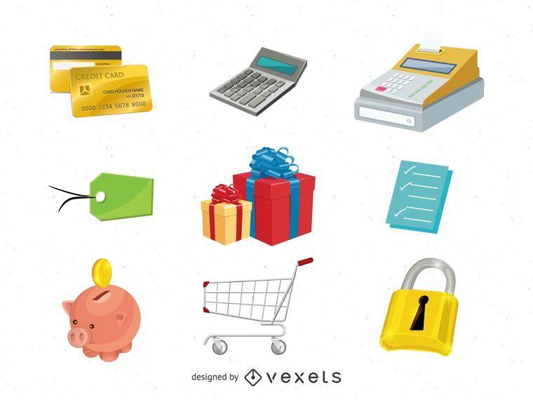 Paquete de iconos de comercio electrónico