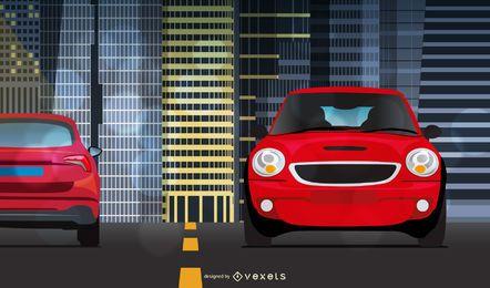 Dois carros vermelhos