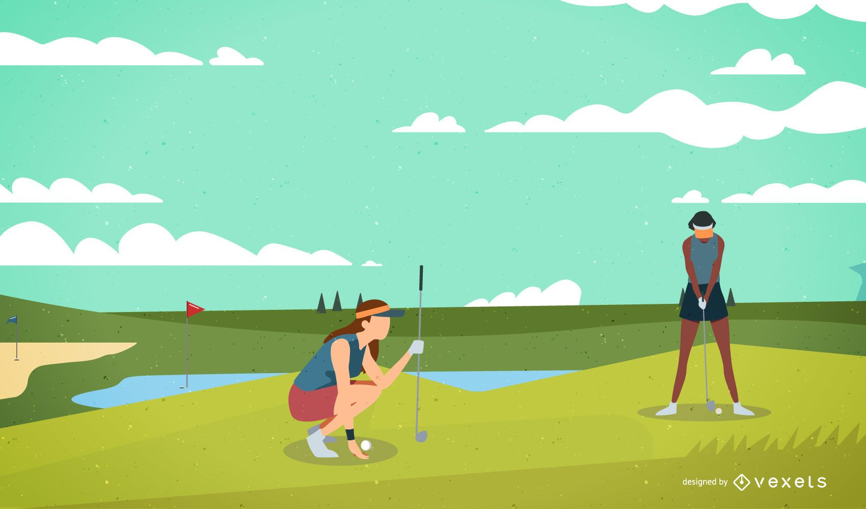 Vector de golf