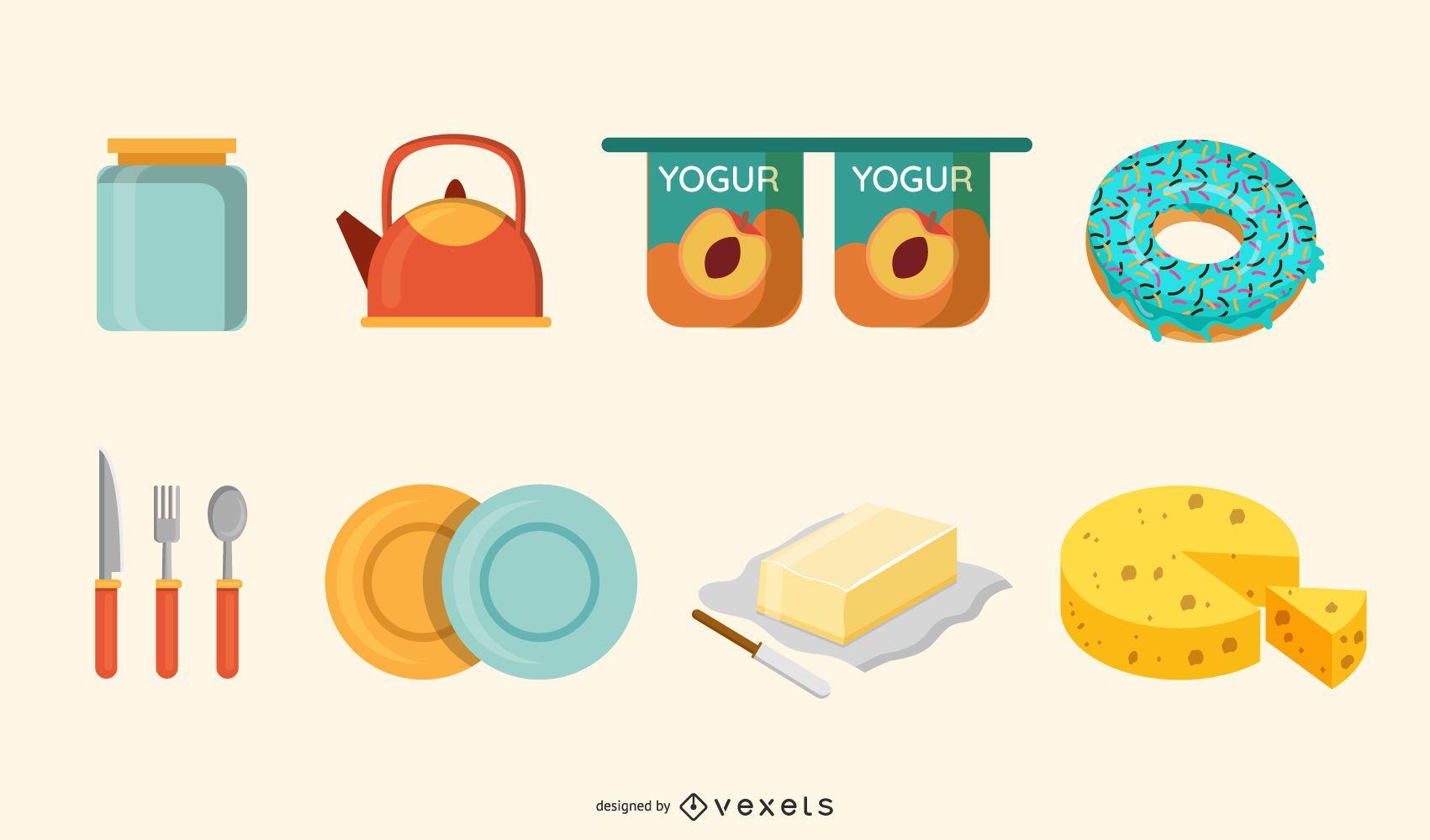 Alimentos Vector Grátis