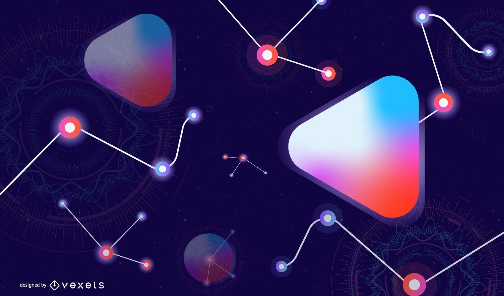 Fondo abstracto de tecnolog?a digital
