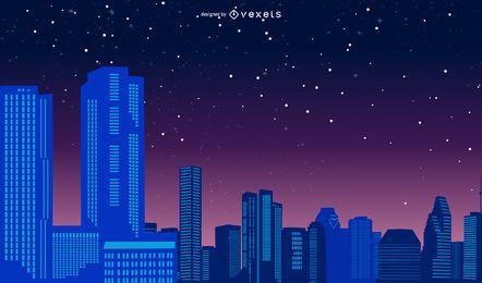Vector de vida nocturna de la ciudad