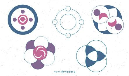 Abstract Design Circles Icon Set
