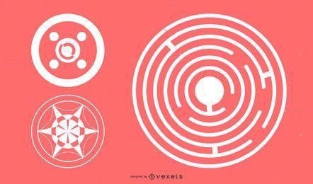 Abstrakte Kreis-Gestaltungselemente