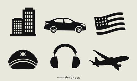 Elementos de diseño de arte vectorial