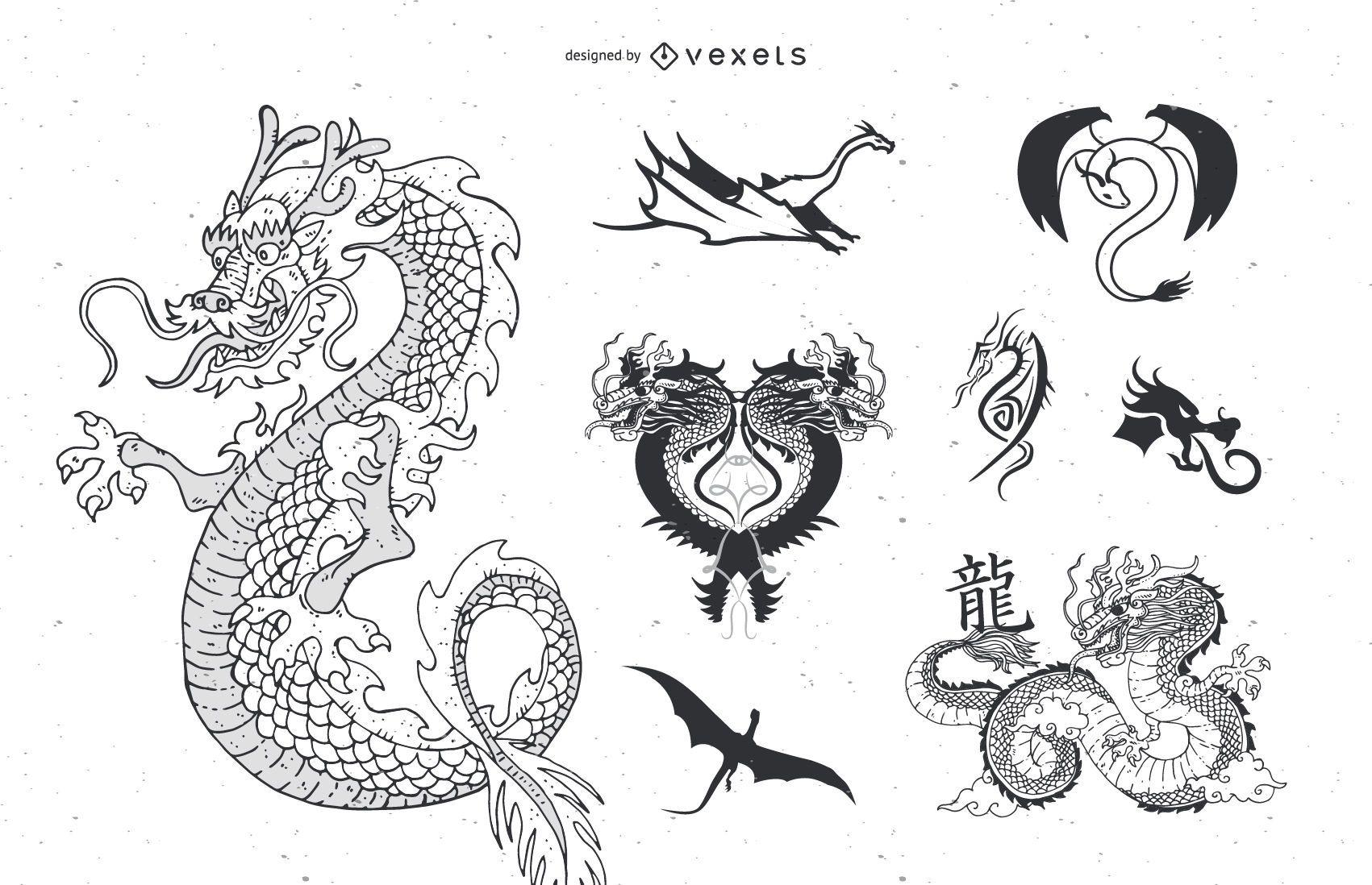Vector Dragon Tattoo