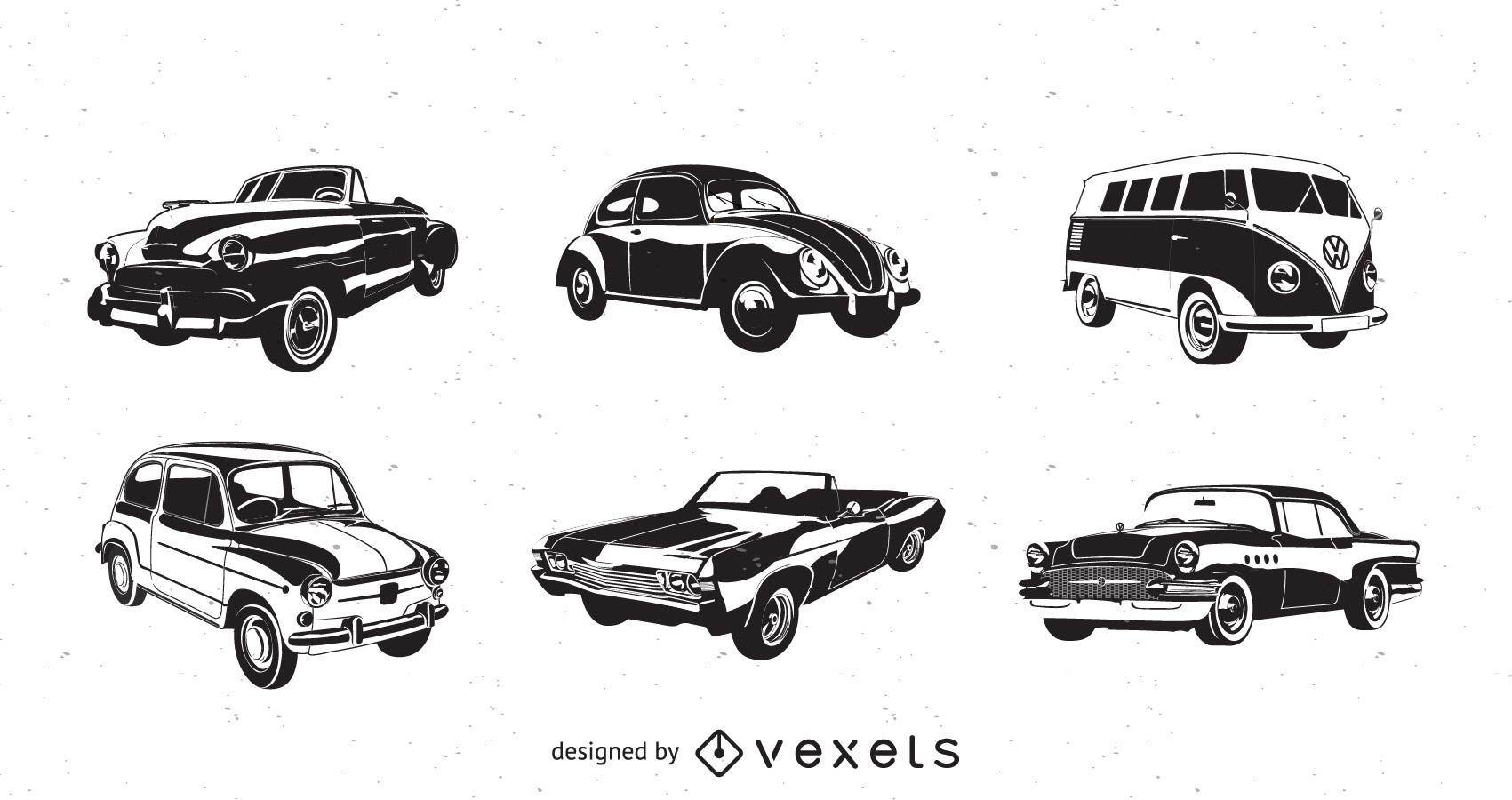Vector retro coches
