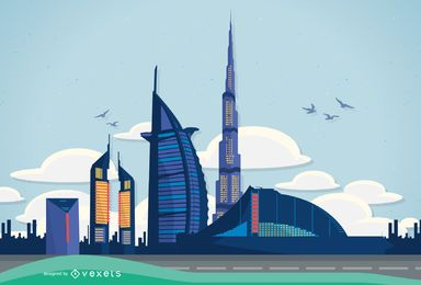 Vector Dubai Illustration