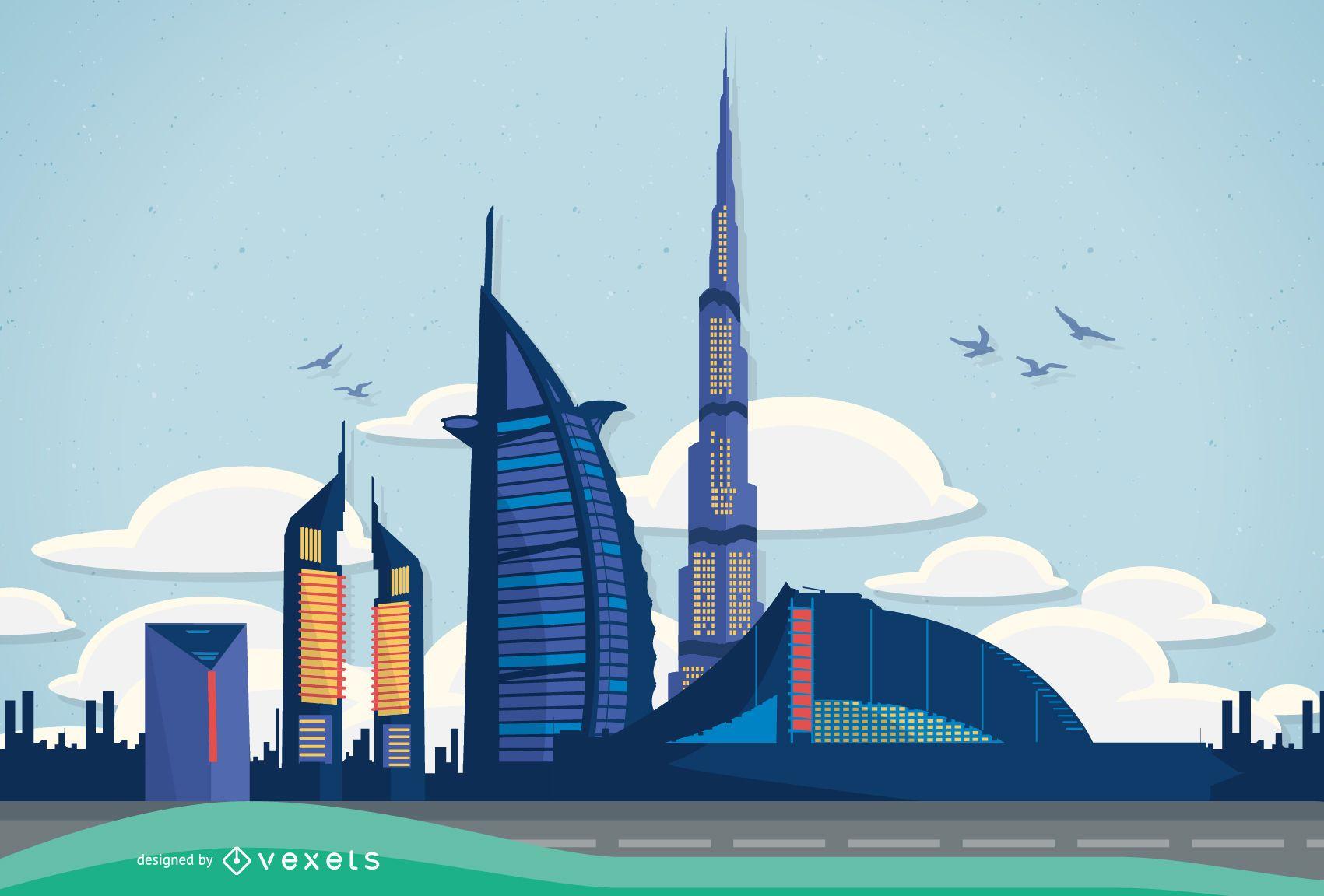 Vector ilustración de Dubai