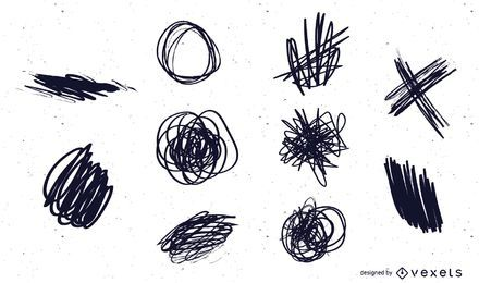 10 Free Vector Ink Scribbles and Scratches