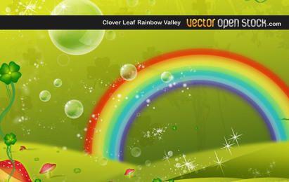 Vale do arco-íris da folha do trevo