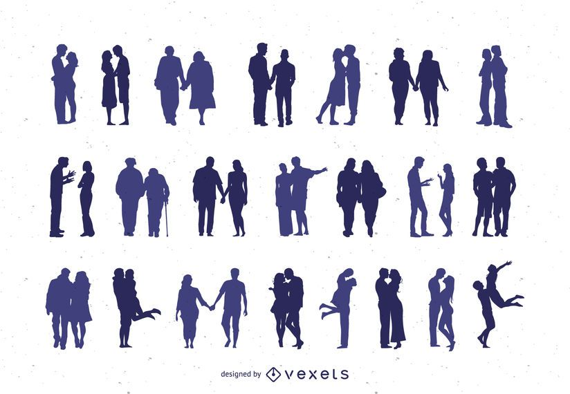 Couple Silhouette Clipart Collection