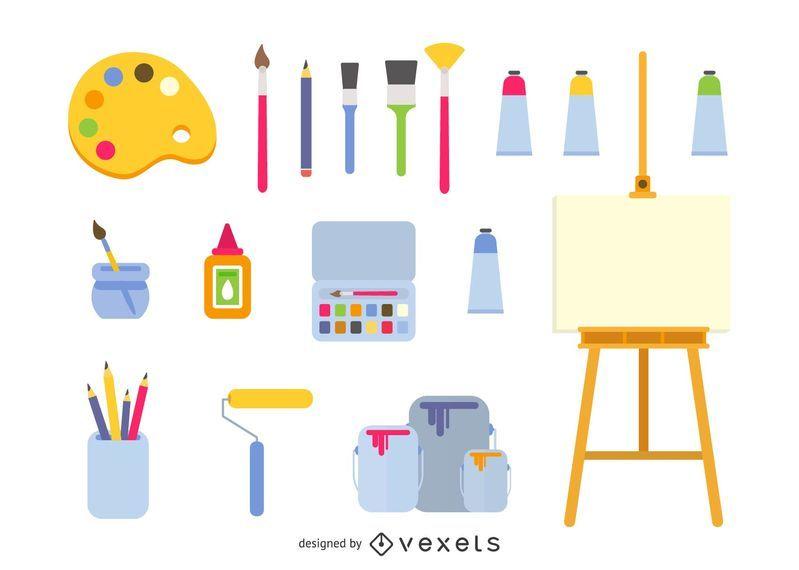 Vector iconos de arte