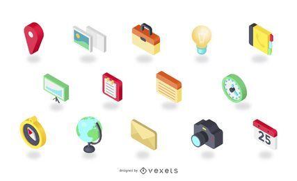 Iconos vectoriales isométricos